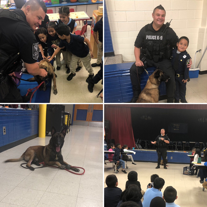 Officer Ronnie & his K-9 Argo spoke to the Pre-K, Kinder, 1st, and 2nd grade students during Red Ribbon Drug Awareness Week.